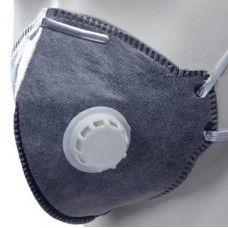 Полумаска фильтрующая складная с клап. с угольным слоем