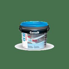 Ceresit  CE 40  Композиция для заполнения швов.  НВ (фуга эластичная серебряно- серый 04).  2кг
