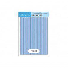 F8603 Шторка голубая 180х180см