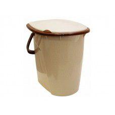 Ведро туалетное 24л IDEA (бежевый мрамор) (арт. М2460)