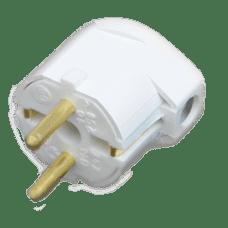 Вилка штепсельная В16-242 с заземляющим контактом и боковым подводом провода