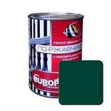 Грунт-эмаль по ржавчине EUROCLASS зеленая, 0.9кг