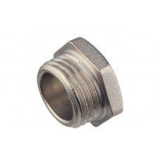 """Заглушка с наружной резьбой латунная никелированная 1/2""""М PFTF35 (Китай)"""
