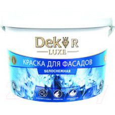 """Краска """"DEKOR"""" для фасадов, белоснежная, 3 кг, ВД-АК-111 (РФ)"""