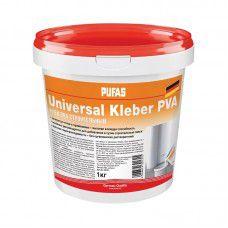 Клей ПВА универсальный  PUFAS . строительный. 1 кг