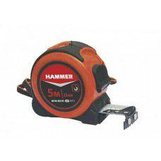 Рулетка 5мx25мм обрезиненный корпус. с фиксатором и магнитом Hammer