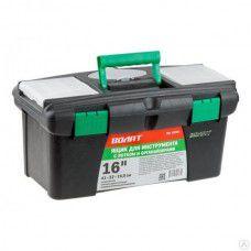 """Ящик для инструмента пластмасс. 41х22х19,5 см (16"""") с лотком и органайз. 20236 ВОЛАТ, арт.20236"""