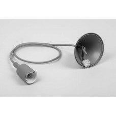 Патрон д/ламп со шнуром 1м. LH127 E27 серый