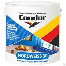 Краска ВД-АК «Nordweiss-30» (Нордвайс-30) контейнер 3 кг.