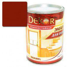 Эмаль для пола DEKOR 0.8 кг (красно-коричневая)