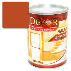 Эмаль для пола DEKOR 0.8 кг (терракот)
