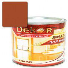 Эмаль для пола DEKOR 1.8 кг (терракот)