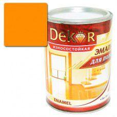 Эмаль для пола DEKOR 0.8 кг (желто-коричневая)