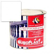 Грунт-эмаль по ржавчине EUROPLAST 0.9 кг (белая)