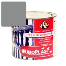 Грунт-эмаль по ржавчине EUROPLAST 0.9 кг (серая)