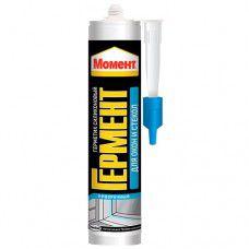 Герметик силиконовый санитарный Момент Гермент 280мл (белый )
