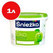 Акриловая краска Sniezka Eko 1л (снежно-белая)