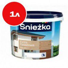 Акриловая краска для фасадов  Sniezka Extra 1л