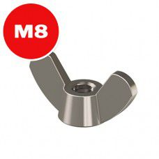 Гайка М8 барашковая цинк (500шт) класс прочности 8