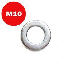 Шайба М10 плоская DIN125 (цинк)