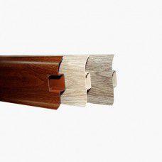 Плинтус напольный пластиковый 55/22мм Комфорт (К55) 2.5м Идеал