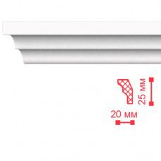 Плинтус потолочный 2м МЕ Н25мм W20мм
