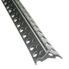 Уголок штукатурный алюминиевый перфорированный А-025-18.5-2500